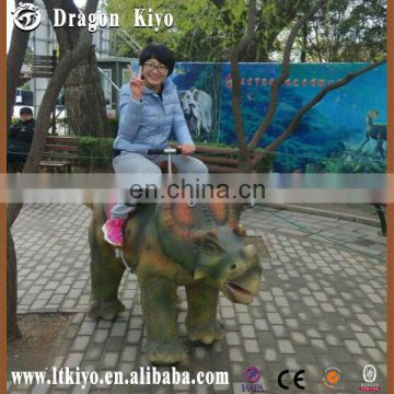 2015 hot sales robot animatronic walking and riding dinosaur