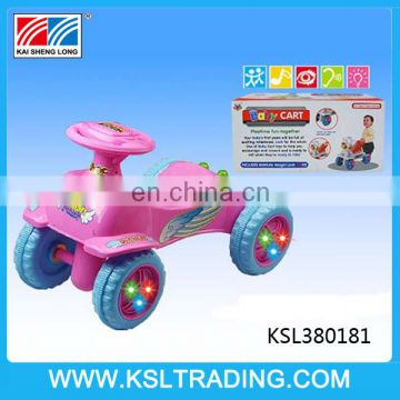 Free wheel ride on baby car toy with music and light