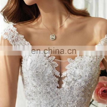 fancy evening llusion elegance layerd bridal gown