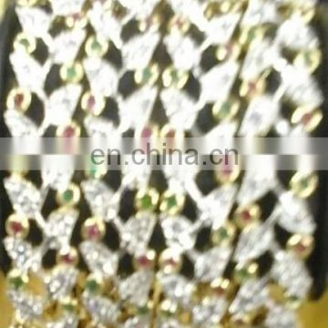 Cz Jewelry Bangle Bracelet manufacturer, Cubic Zircon Jewellery bangles , American Diamond Jewellery custom design manufacturer