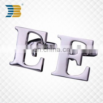 Wholesale New Custom Fashion Metal Letter Cufflinks