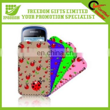 Promotional Customized Logo Neoprene Mobile Phone Bag