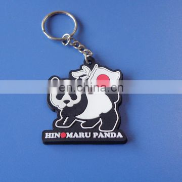 customized decoration souvenir gifts cute panda image animal feature customized soft PVC keychain