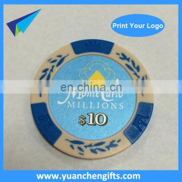 Hot sale custom poker chip style golf ball markers wholesale