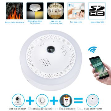 2018 New Fire SmartCam/Dangerous Gas Alarm Network CCTV Security WiFi HD IP Camera