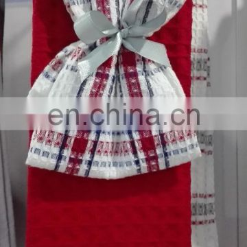 Shandong supplier waffle kitchen tea towel set wholesale