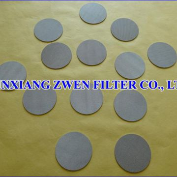 Sintered Metal Porous Filter Disc