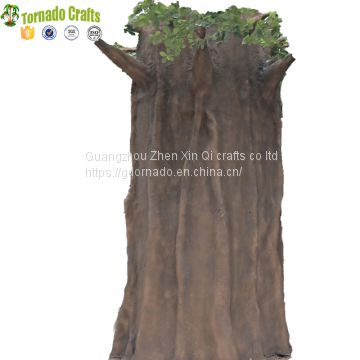 Customized outdoor round trunk decorative artificial big metal ficus trees