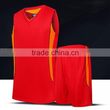 wholesale OEM color and design basketall clothes breathable red basketball jersey uniform