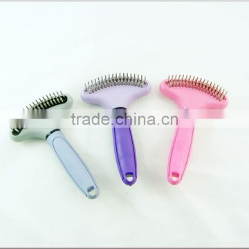 plastic pet hair brush with the steel pin