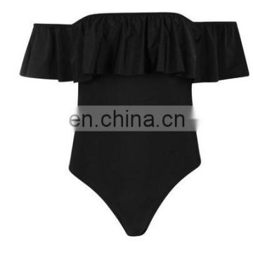 New arrival off shoulder one piece swimsuit wholesale