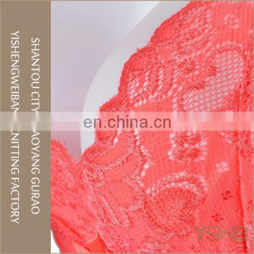 Hot selling mature lady thin red lace sexy honeymoon transparent lingerie