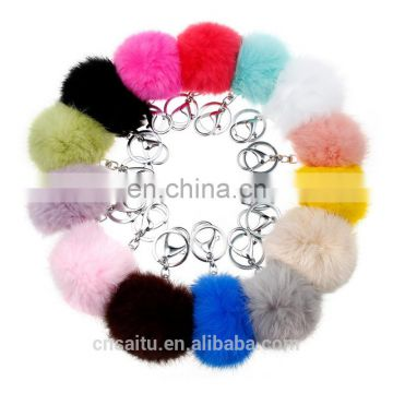 Jewels Charm crafted from 100% authentic rabbit fur