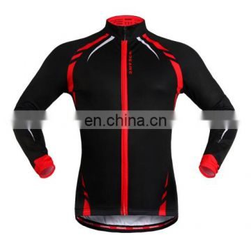 Fashion new product Unisex Thermal Biking Jersey Long Sleeve Sportswear Outdoor Cycling Clothes, Size: XXL