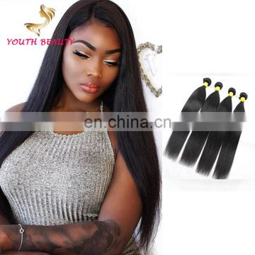 100% human virgin remy Peruvian human 9A grade hair bundles in silky straight style raw unprocessed hair
