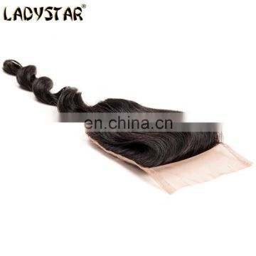 free part human hair closure piece loose wave