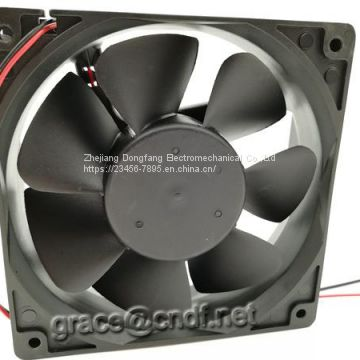 CNDF made in china with CE 2 years warranty plastic material dc cooling industiral fan  12VDC 120x120x38mm