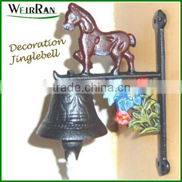 (1063) wrought Iron decorative jingle bell metal artware animal welcome doorbell