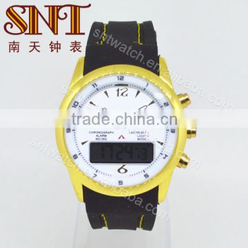 Latest product analog digital watch with metal case