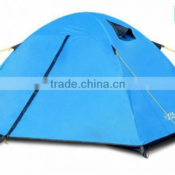 blue gree orange two person portable family travel camping tent