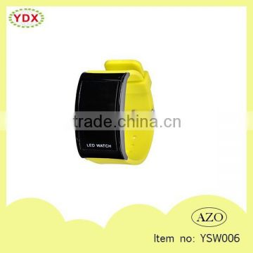 Latest fashion trends yellow promotion gifts portable led watches