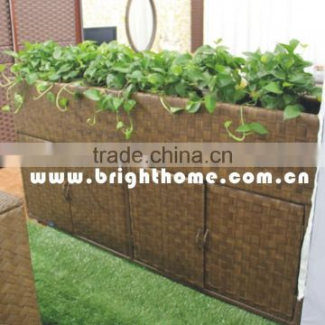Flower pot with shoe cabinet