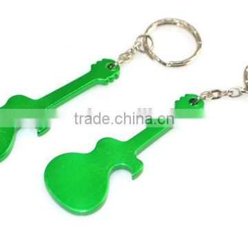 Low price Aluminum alloy musical instrument guitar beer bottle opener keychain