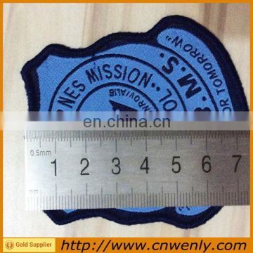 Garment customized school fabric woven badges