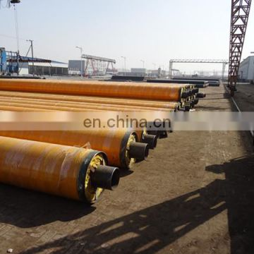 Insulation steel pipe with HDPE jacket for water supply