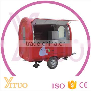 2016 China Mobile Food Cart, Fast Food Kiosk Truck, Food Trailer Carts Coffee Vending For Sale