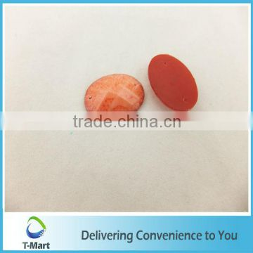 oval colorful epoxy resin stones for clothing