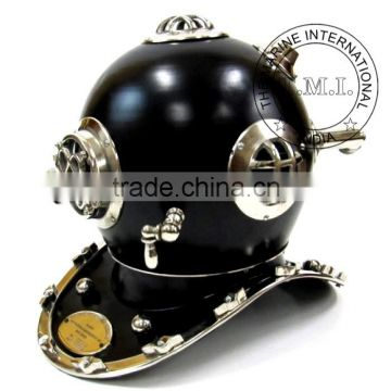 DIVING HELMET MARK IV - NAUTICAL DIVER'S HELMET MARK IV - BLACK & CHROME DIVER HELMET MARK IV - VINTAGE GIFT