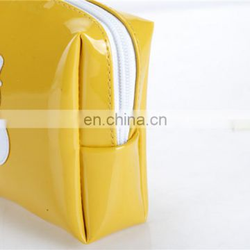 Cheap leather travel cosmetic bag Promotion bag