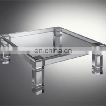 Clear square transparent acrylic coffee table acrylic round table clear acrylic dining table
