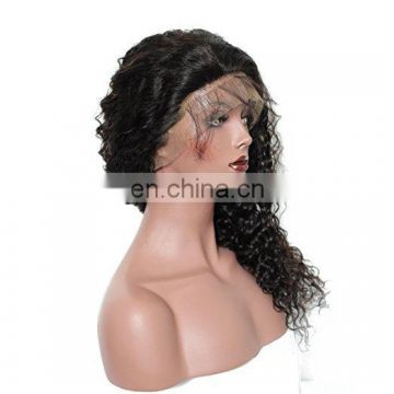 Best Quality 180%Density Unprocessed Cheap Brazilian Front Lace Wig 100 percent human hair wigs