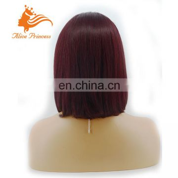 Wholesale 1B/99J Ombre Human Hair Full Lace Wig Virgin Brazilian Lace Front Human Hair Wigs