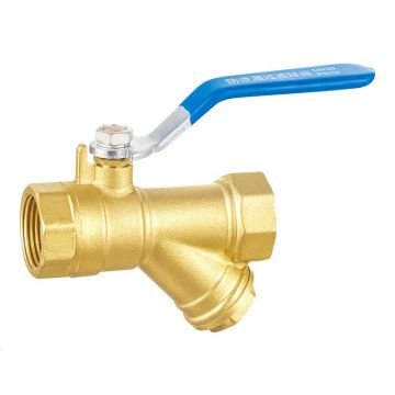 ML-2034 Y type long handle brass filter ball valve