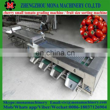 litchi size sorting machine / cherry grading machine by size / automatic feeder small size fruit grader machine