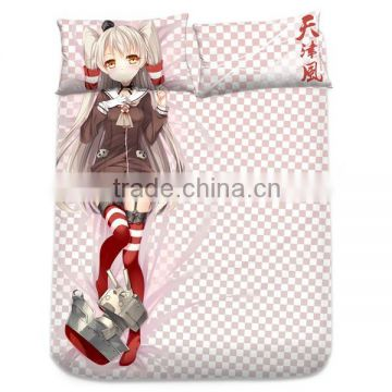 New Amatsukaze Kai - Kantai Collection Japanese Anime Bed Sheet with Pillow Covers Blanket 1