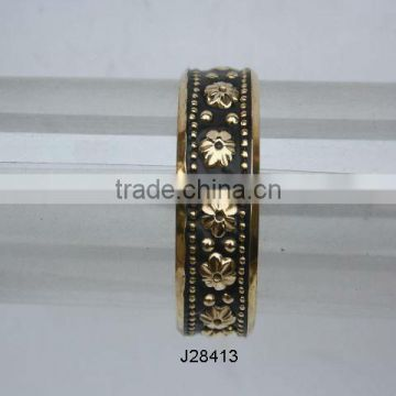 Polished Brass bracelets with patterns