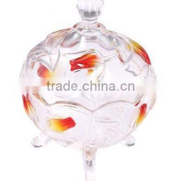 Customized different sizes Hot Sale Glass Candy Jar Ceramic Lid Clear Glass Decoraitive Honey Jars For Box Packing