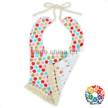 2017 new baby product double side printed cotton newborn baby bibs