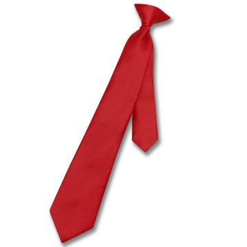 Red Satin Mens Jacquard Neckties Silky Finish Double-brushed