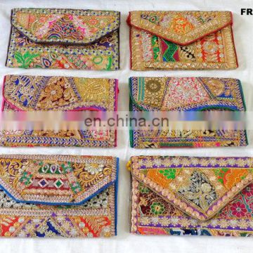 Indian Indo Western Style Clutch Purse-Party hand clutch Purse-Patchwork handmade Clutch Purse-Patchwork wedding Clutch purse