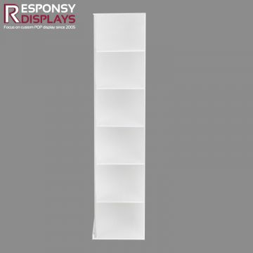 Many Layers Floor Frosted White Acrylic Sunglasses Display Shelf