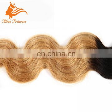 Wholesale Virgin Hair Vendors Ombre Two Tone Color 1B And 27 Sunburst Body Wave Brazilian Hair Weave In Mozambique