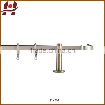 F119204 metal iron aluminium stainless steel brass plated plain twisted extensible telescopic window curtain poles rods pipes