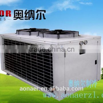 Monoblock refrigeration condensing unit for cold storage room