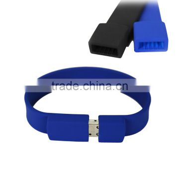 2017 Hot Sell Durable Amazing Silicone Flash USB Bracelet 4GB usb flash Drive