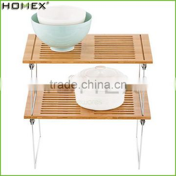 Bamboo Dish Drying Rack Over Sink Shelf Homex-BSCI Factory